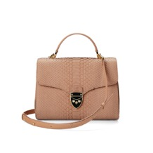 Mayfair Bag in Deer Nubuck Python. Handbags & Clutches from Aspinal of London