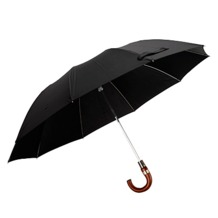 Gent's Automatic Compact Umbrella in Black. Umbrellas from Aspinal of London