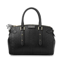 Brook Street Bag in Black Python. Handbags & Clutches from Aspinal of London
