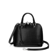 Mini Hepburn in Jet Black Lizard. Handbags & Clutches from Aspinal of London