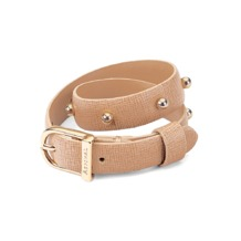Marylebone Buckle Bracelet in Deer Saffiano. Cuff Bracelets from Aspinal of London