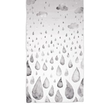 Long Raindrops & Clouds Cashmere Blend Scarf in Monochrome. Ladies Silk Scarves from Aspinal of London