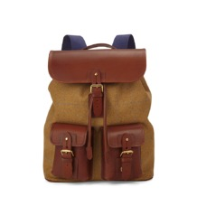 England Rucksack in Tweed & Brown Saddle Leather. Mens Messenger Bags from Aspinal of London