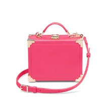 Trunk Clutch in Smooth Neon Pink. Handbags & Clutches from Aspinal of London