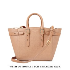 Medium Marylebone Tech Tote in Deer Saffiano. Handbags & Clutches from Aspinal of London