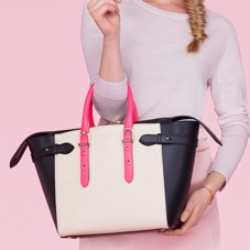 Medium Marylebone Tech Tote in Smooth Neon Pink. Ladies Business Bags from Aspinal of London