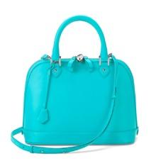 Hepurn Bag in Smooth Aqua Nappa. Handbags & Clutches from Aspinal of London