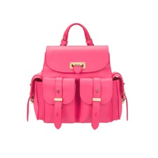 Mini Letterbox Rucksack in Smooth Neon Pink. Handbags & Clutches from Aspinal of London