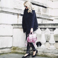 Mini Letterbox Rucksack in Smooth Black Nappa. Handbags & Clutches from Aspinal of London