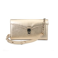 Mini Manhattan Clutch in Metallic Gold Nappa. Handbags & Clutches from Aspinal of London