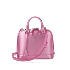Mini Hepburn in Metallic Pink Nappa. Handbags & Clutches from Aspinal of London