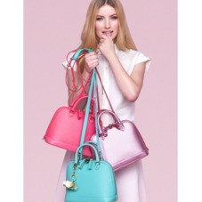Mini Hepburn in Smooth Neon Pink. Handbags & Clutches from Aspinal of London