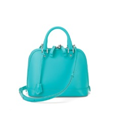 Mini Hepburn in Smooth Aqua Nappa. Handbags & Clutches from Aspinal of London