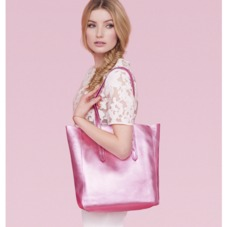 Essential Tote in Metallic Pink Nappa. Ladies Business Bags from Aspinal of London