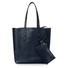 Essential Tote in Navy Pebble & Smooth Navy. Handbags & Clutches from Aspinal of London