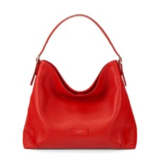 Hobo Bag in Berry Pebble. Handbags & Clutches from Aspinal of London