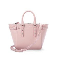 Marylebone Mini in Smooth Powder Pink Nappa. Handbags & Clutches from Aspinal of London
