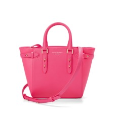 Marylebone Mini in Smooth Neon Pink. Handbags & Clutches from Aspinal of London