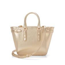 Marylebone Mini in Metallic Gold Nappa. Handbags & Clutches from Aspinal of London