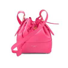 Padlock Bucket Bag in Smooth Neon Pink. Handbags & Clutches from Aspinal of London