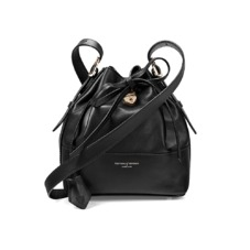 Padlock Bucket Bag in Smooth Black Nappa. Handbags & Clutches from Aspinal of London