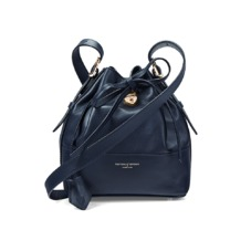 Padlock Bucket Bag in Smooth Navy Nappa. Handbags & Clutches from Aspinal of London