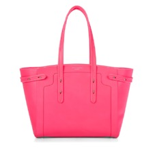 Marylebone Light Bag in Smooth Neon Pink. Handbags & Clutches from Aspinal of London