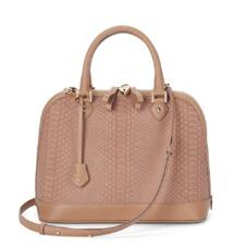 Hepburn Bag in Deer Nubuck Python. Handbags & Clutches from Aspinal of London