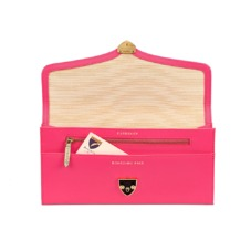 Manhattan Travel Wallet in Smooth Neon Pink. Outlet from Aspinal of London