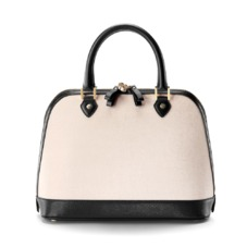 Hepburn Bag in Monochrome Saffiano. Handbags & Clutches from Aspinal of London
