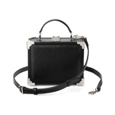 Trunk Clutch in Black Saffiano. Evening & Clutches from Aspinal of London