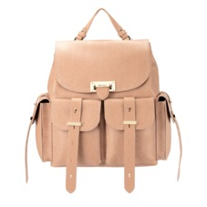 Letterbox Rucksack in Deer Saffiano & Smooth Deer. Handbags & Clutches from Aspinal of London