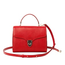 Mayfair Bag in Berry Lizard. Evening & Clutches from Aspinal of London
