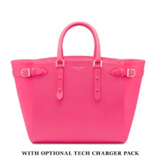 Marylebone Tote in Smooth Neon Pink. Ladies Business Bags from Aspinal of London