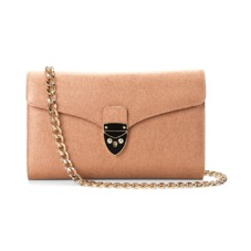 Shield Lock Manhattan Clutch in Deer Saffiano. Evening & Clutches from Aspinal of London