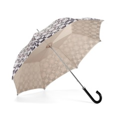 Ladies Marylebone Stand Up Umbrella in Monochrome & Champagne Cream. Umbrellas from Aspinal of London