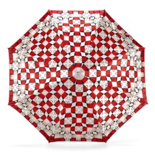 Ladies Marylebone Compact Umbrella in Berry Red. Umbrellas from Aspinal of London