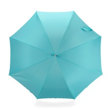 Ladies Stand Up Umbrella in Aqua & Neon Pink. Umbrellas from Aspinal of London