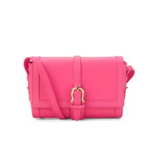 Mini Shoulder Buckle Bag in Smooth Neon Pink. Evening & Clutches from Aspinal of London