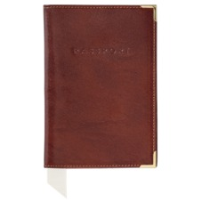 Plain Passport Cover in Smooth Cognac. Leather Passport Covers from Aspinal of London