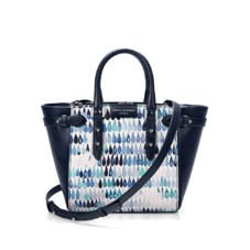 Marylebone Mini in Navy Raindrop Nappa. Handbags & Clutches from Aspinal of London