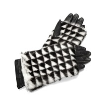 Fur Hand Warmers. Ladies Leather Gloves from Aspinal of London