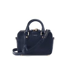 Mini Sofia Bag in Smooth Navy. Handbags & Clutches from Aspinal of London
