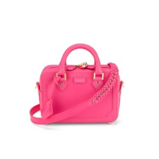 Mini Sofia Bag in Smooth Neon Pink. Handbags & Clutches from Aspinal of London