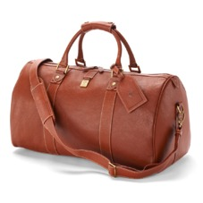 Boston Bag in Tan Pebble Calf