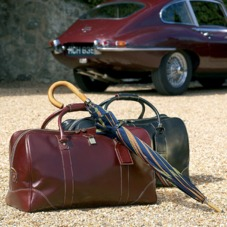 Boston Bag in Tan Pebble Calf. Mens Travel Bags from Aspinal of London
