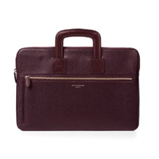 Connaught Document Case in Burgundy Red Saffiano. Ladies Business Bags from Aspinal of London