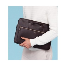 Connaught Document Case in Fog Nubuck. Ladies Business Bags from Aspinal of London