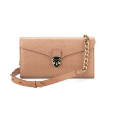 Mini Manhattan Clutch in Deer Saffiano. Evening & Clutches from Aspinal of London