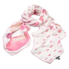 Large Raindrop Cashmere Blend Shawl Scarf in Neon Pink. Ladies Cashmere Scarves from Aspinal of London